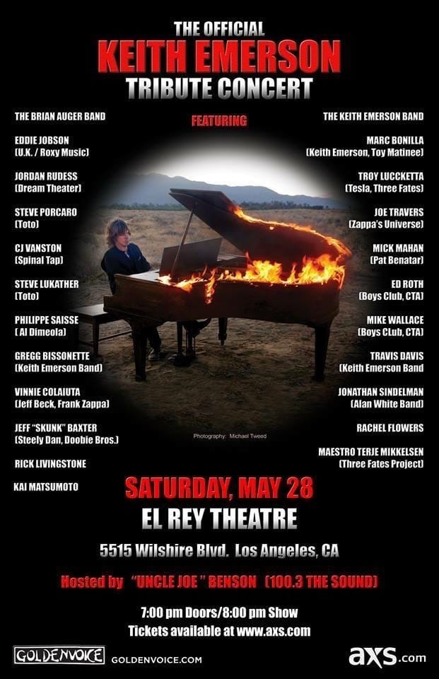 Official Keith Emerson Tribute Concert –  May 28, 2016