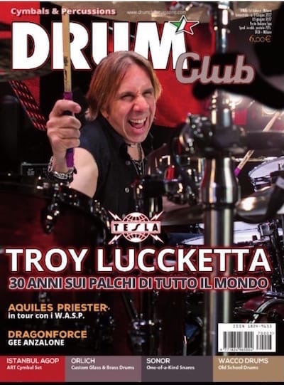 Cover Feature of Italy's Drum Club Magazine June 3, 2017