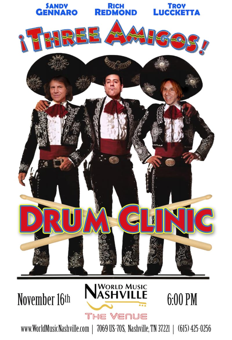 Three Amigos Drum Clinic- November 16, 2017